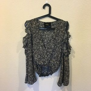 Blue Life Tops - Blue Life long sleeve floral blouse
